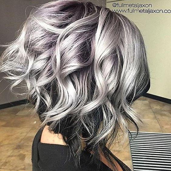 gri dalgalı saç modeli
