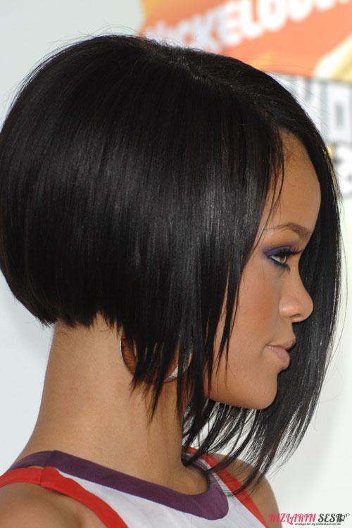 asimetrik küt saç modelleri