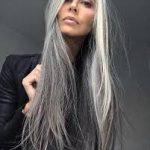 uzun gri saç