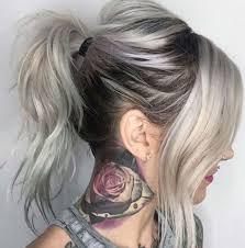 dağınık gri saç modeli