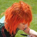 turuncu kısa sac