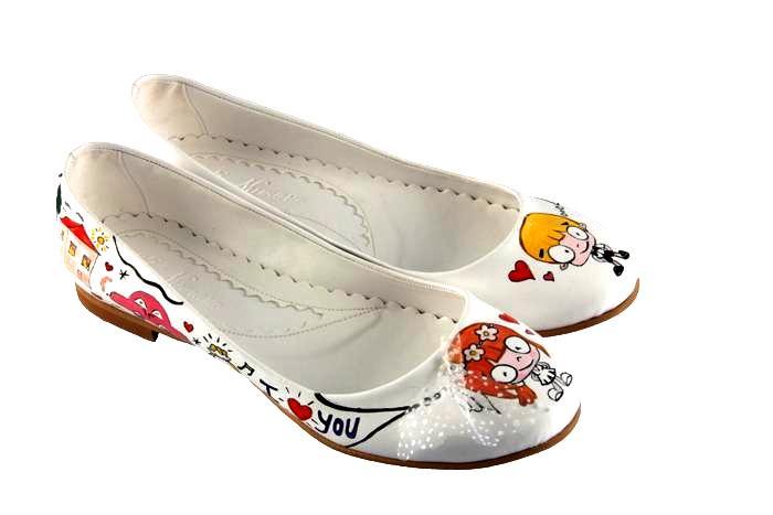 karikatürlü gelin ayakkabilari