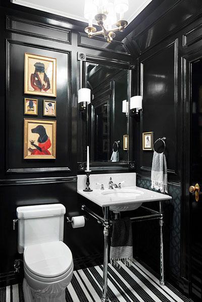 siyah banyo aksesuar