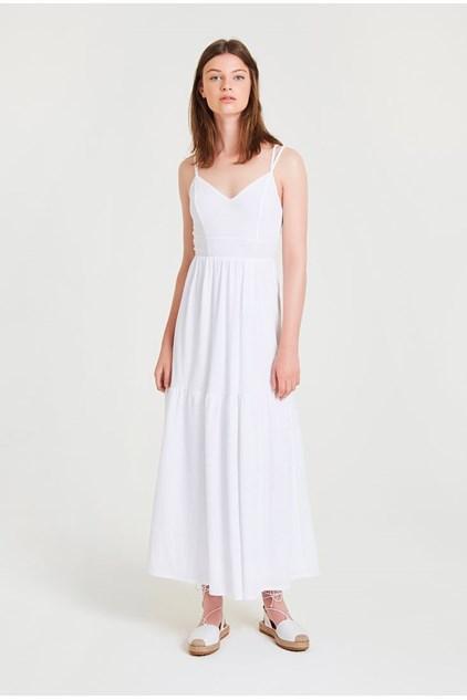 beyaz uzun elbise modelleri