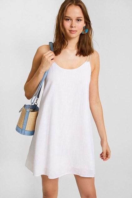 kisa beyaz elbise