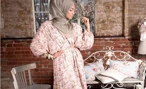 tesettür vintage elbise modelleri