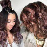 çikolata leylak saç modelleri