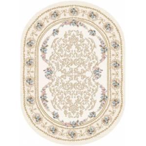 oval hali motifli
