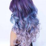 mavi geçişli saç modelleri