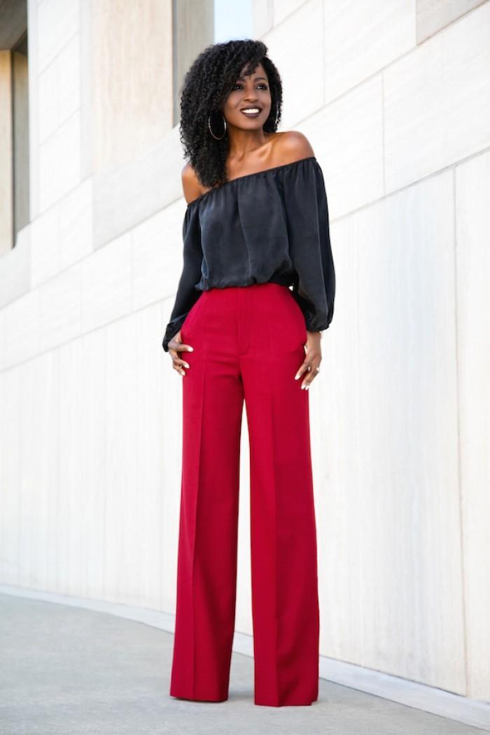 uzun bol paca pantolon kombinleri