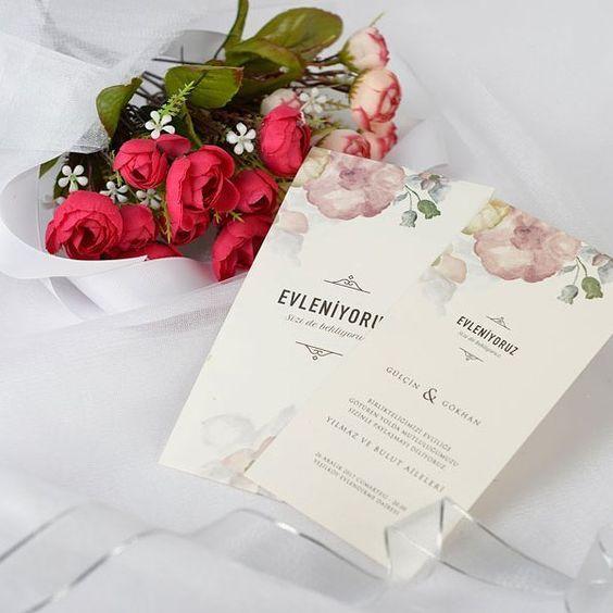 sade düğün davetiye modelleri