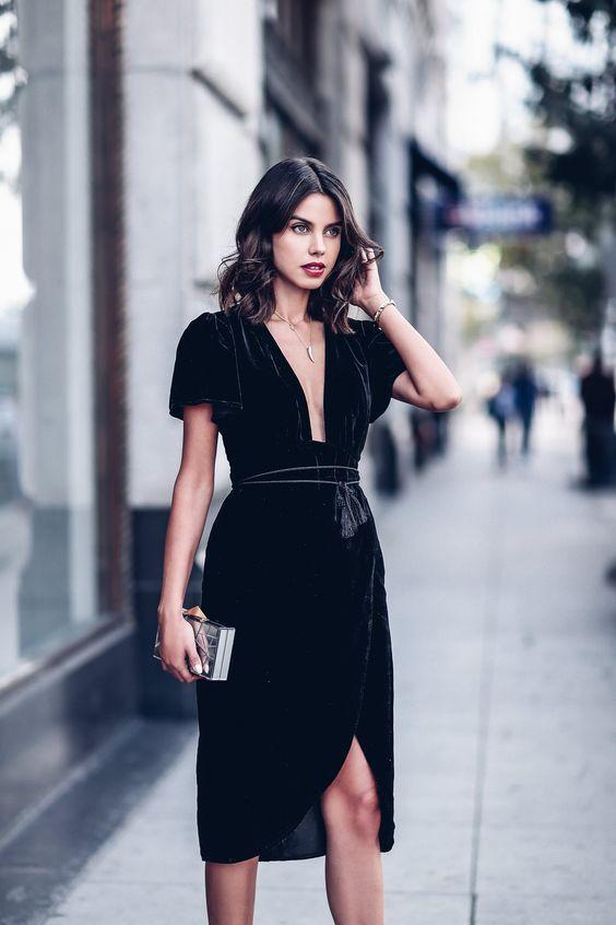 christmas day black dress