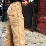 düz kesim bej pantolon modelleri