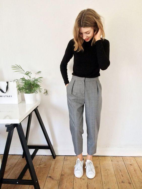 spor kumaş pantolon kombin önerileri