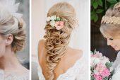 Çiçekli Gelin Saçı Modelleri