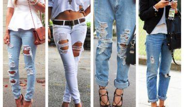 Yırtık Pantolon Kombinleri