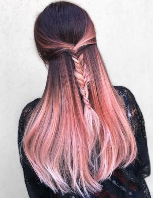 rose gold ombre sac