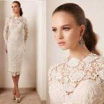 beyaz dantelli kalem elbise