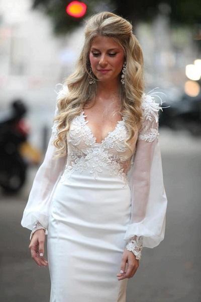beyaz uzun nikah elbisesi