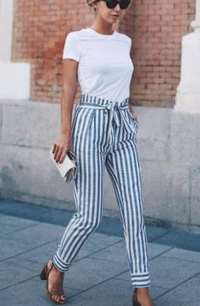 cizgili havuc pantolon