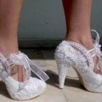 fiyonklu topuklu ayakkabi