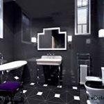 siyah beyz banyo dekorasyonu