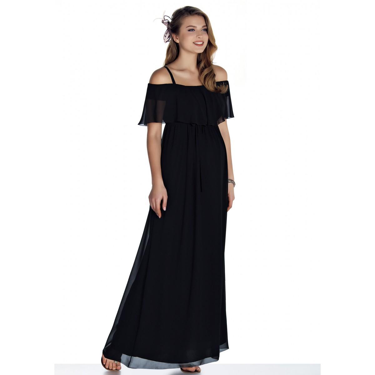 siyah hamile elbise