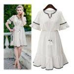 beyaz kisa elbise modelleri