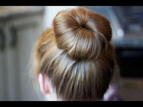 donat topuzu saç modelleri