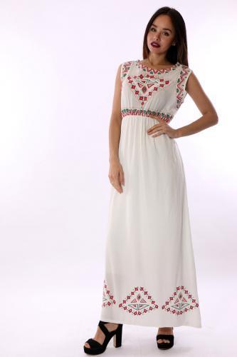 etnik desenli elbise modelleri