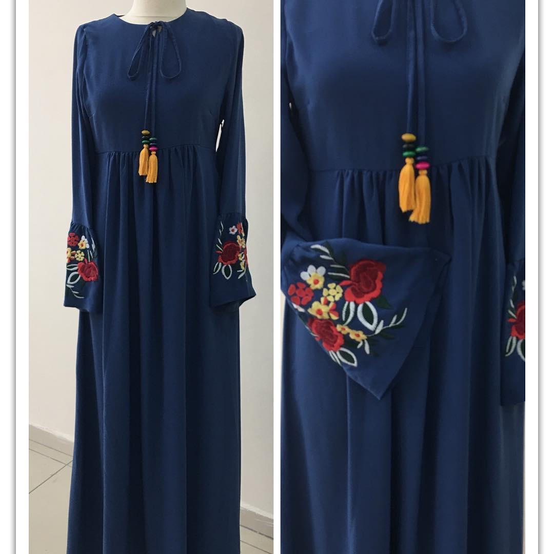 etnik tesettür elbise