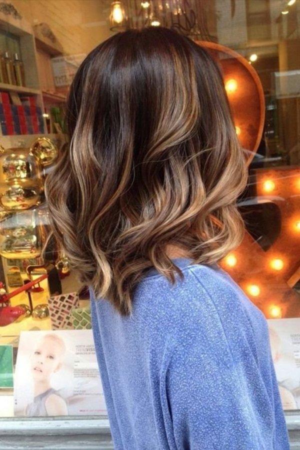 kahverengi saça balyaj
