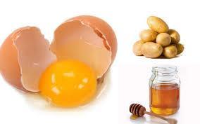 patates bal ve yumurta maskesi