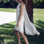 pelerinli beyaz elbise