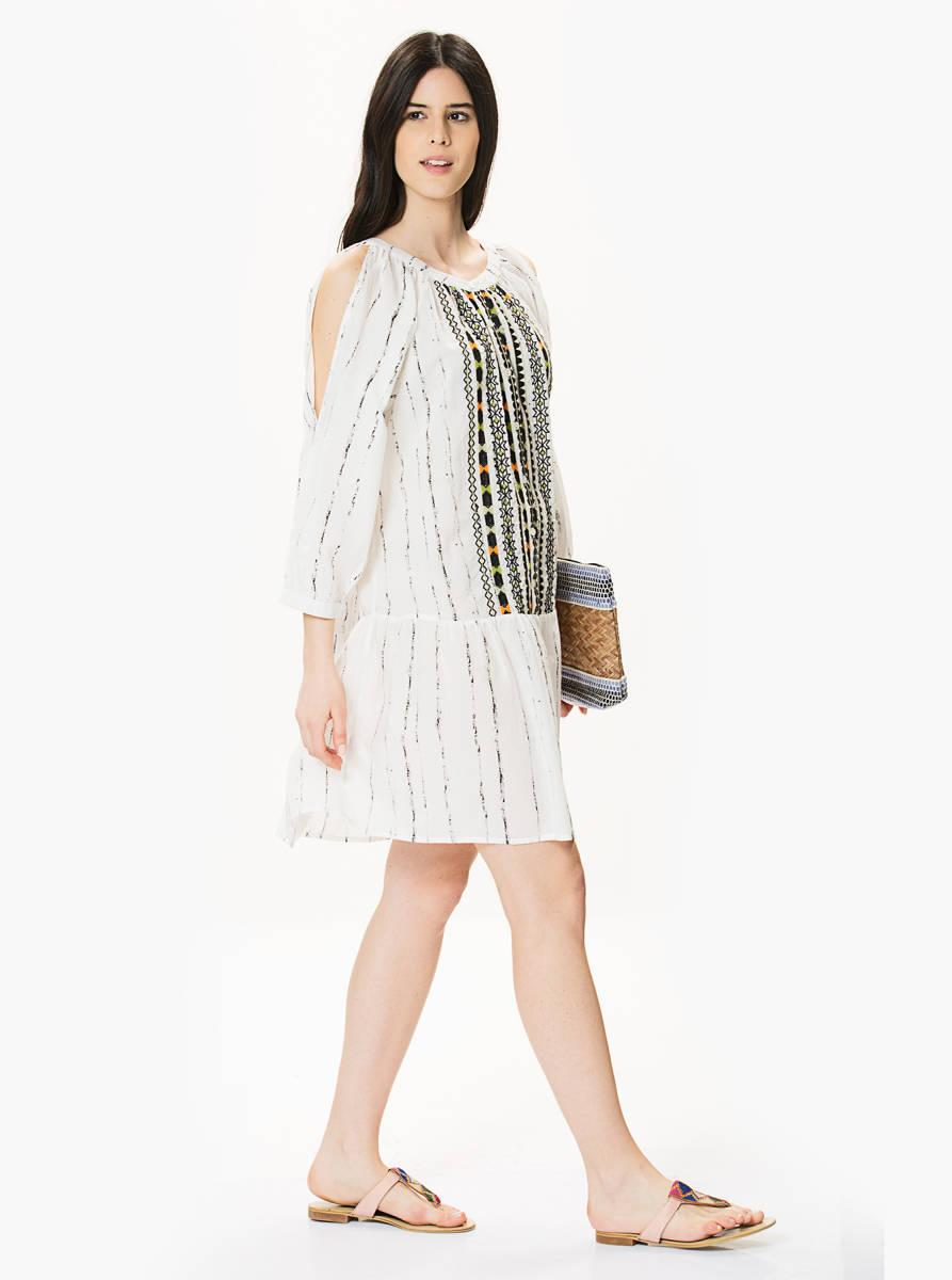 roman marka beyaz sile bezi elbise