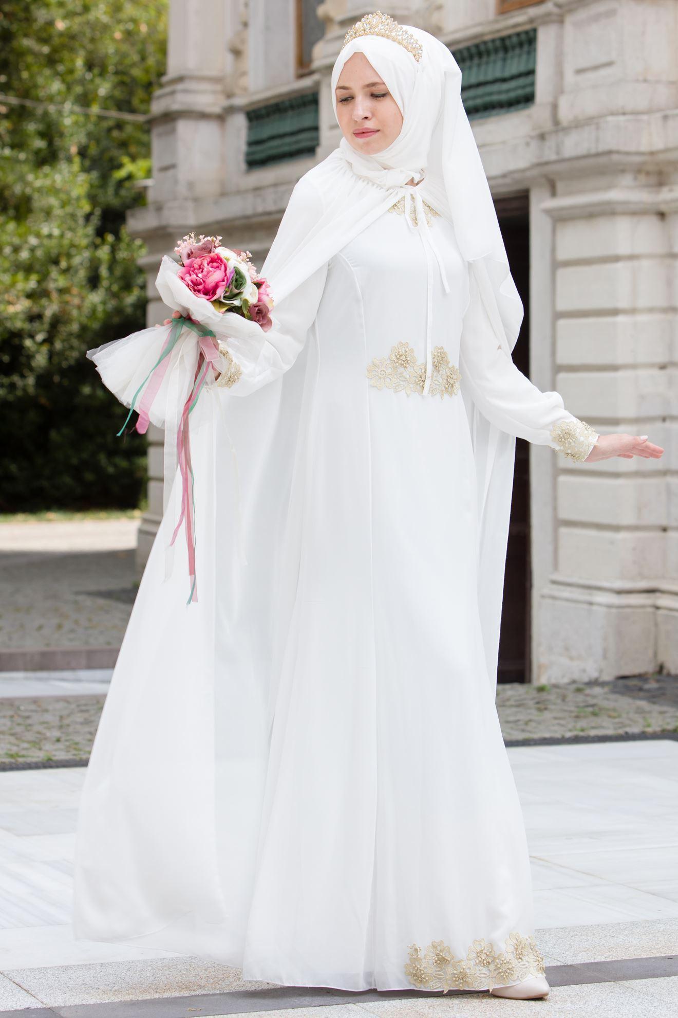 602e785698d92 tesettür nikah elbise | Her Güne Bir Yudum Bilgi