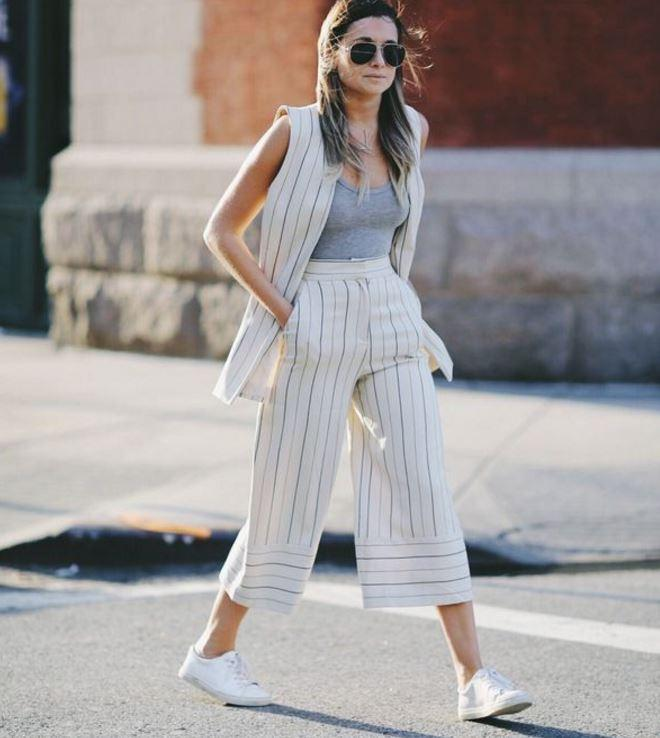 cizgili pantolon kombinleri 2019