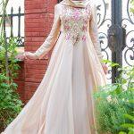 pudra tesettür abiye elbise modelleri