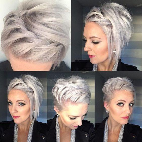 short straight hairstyle modals