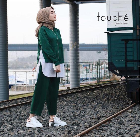 spor giyim tesettur kombini 2019