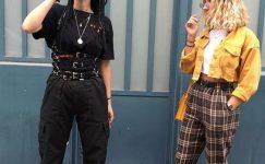 Düz Kesim Pantolon Kombinleri