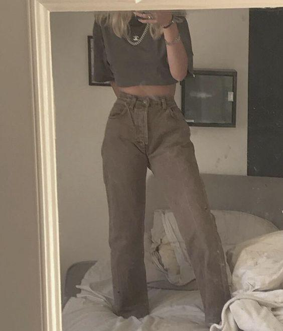 düz kesim pantolon modeli