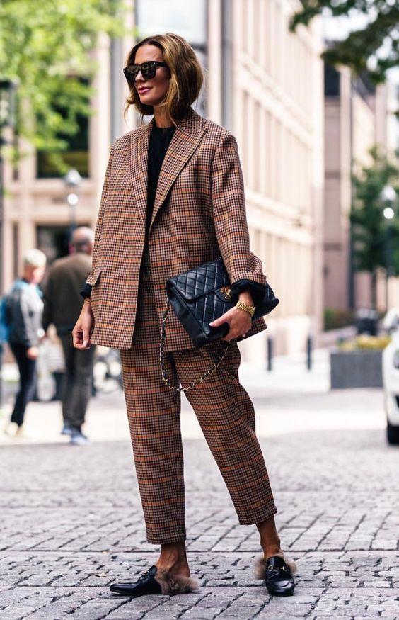 kareli ceket pantolon takım