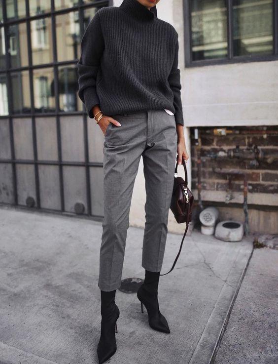 ofis stili pantolon kombinleri