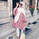gomlek elbise tesettur kombinleri 2019