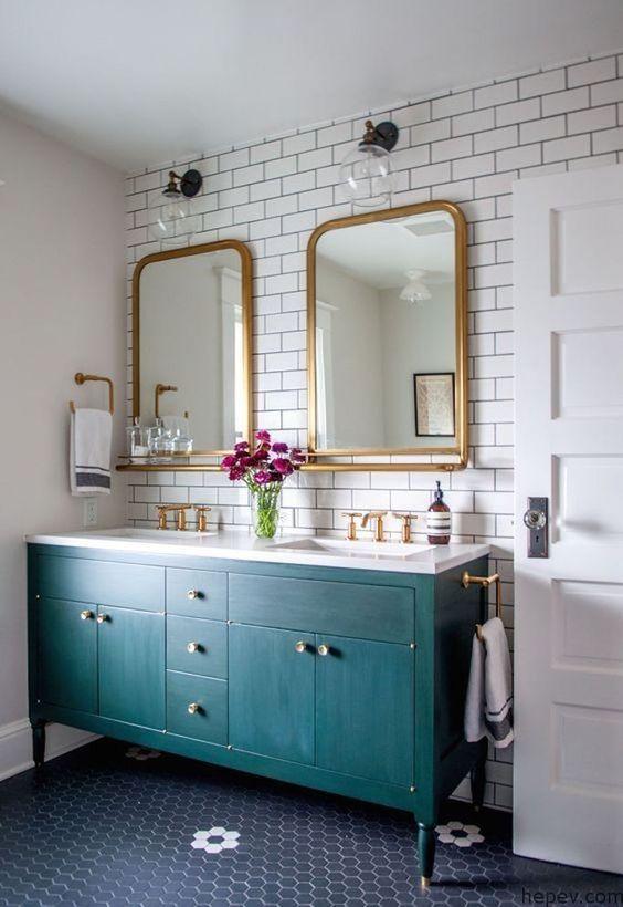 vintage banyo dolap modelleri