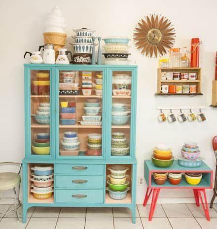 vintage mutfak dolabı