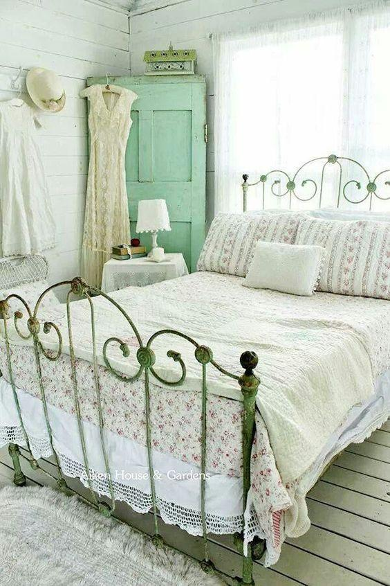 vintage yatak odasi modelleri