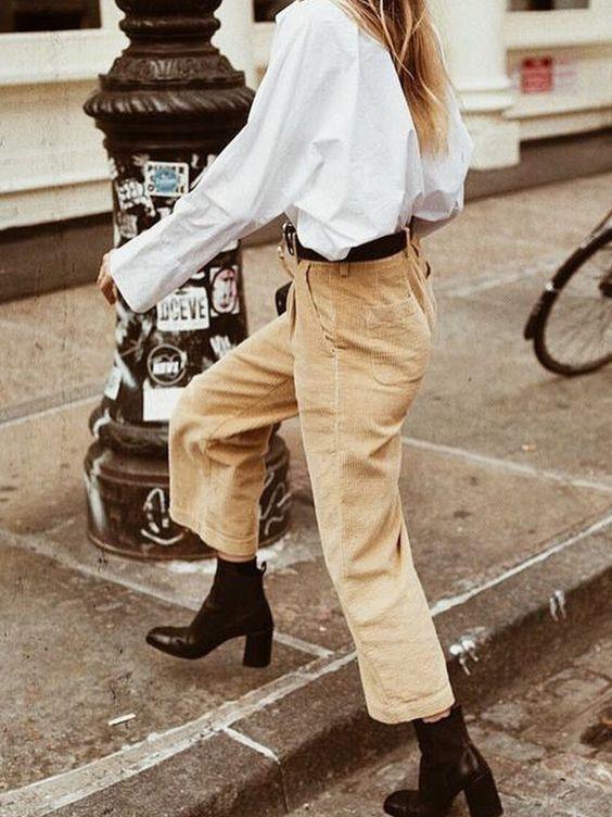 2019 kadife pantolon kombinleri