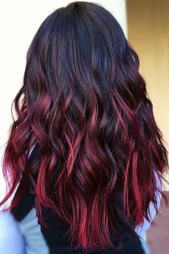 Kızıl Ombre Saç Renkleri Her Güne Bir Yudum Bilgi
